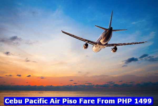 Cebu Pacific Piso Fare PHP1499