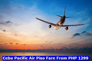 Cebu Pacific Piso Fare PHP1299
