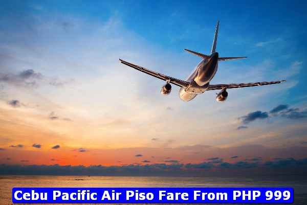 Cebu Pacific Piso Fare PHP999